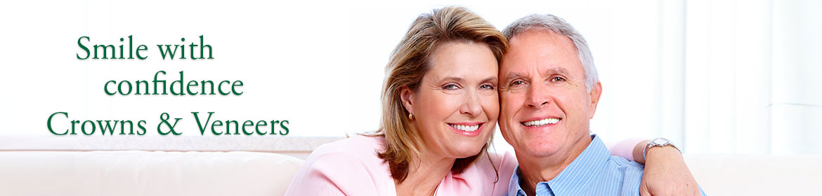Dental crowns and veneers - older couple