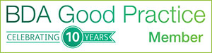 BDA Good Pracice - 10 Years - St Cathersines Dental Practice in Grantham